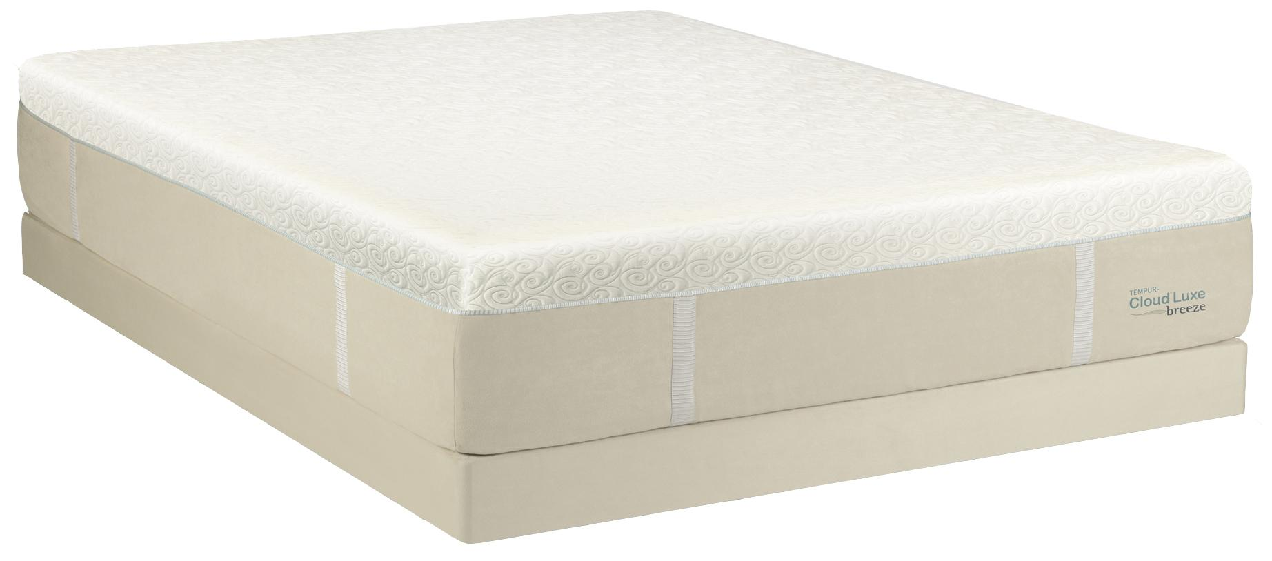 Tempur-Pedic® TEMPUR-Cloud® Luxe Breeze King Ultra Soft Mattress, LP Set - Item Number: 10109170+2x21520120