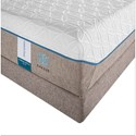 Tempur-Pedic® TEMPUR-Cloud Supreme Breeze 2 Queen Soft Mattress and Grey High Profile Foundation - Closer Look