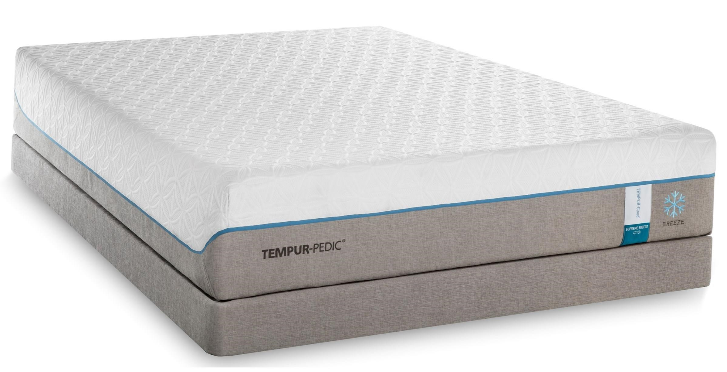 Tempur-Pedic® TEMPUR-Cloud Supreme Breeze 2 King Soft Mattress Set - Item Number: 10103270+2x20510120