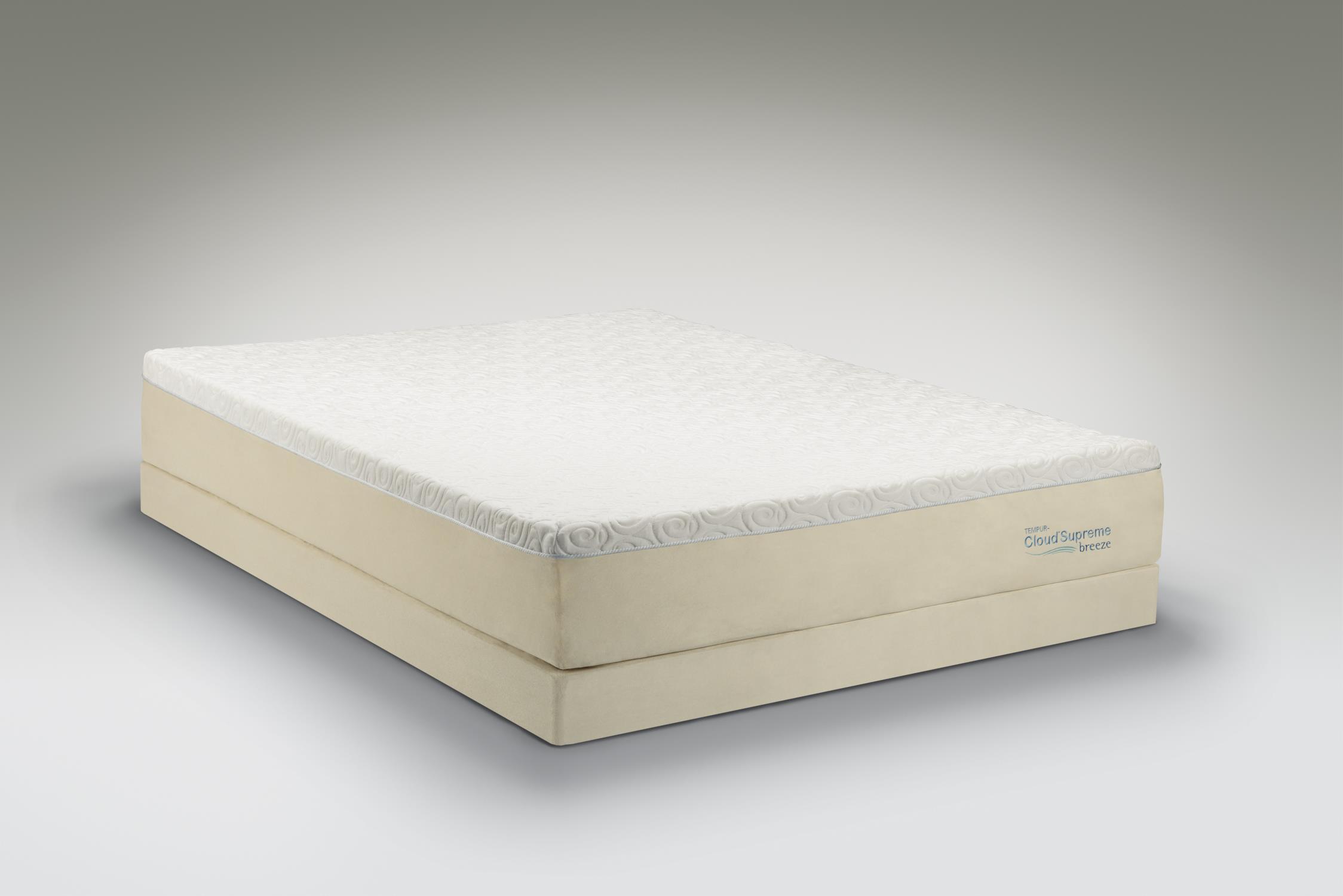 Tempur-Pedic® TEMPUR-Cloud®  Supreme Breeze King Soft Mattress, Low Profile Set - Item Number: 10103170+2x21520120