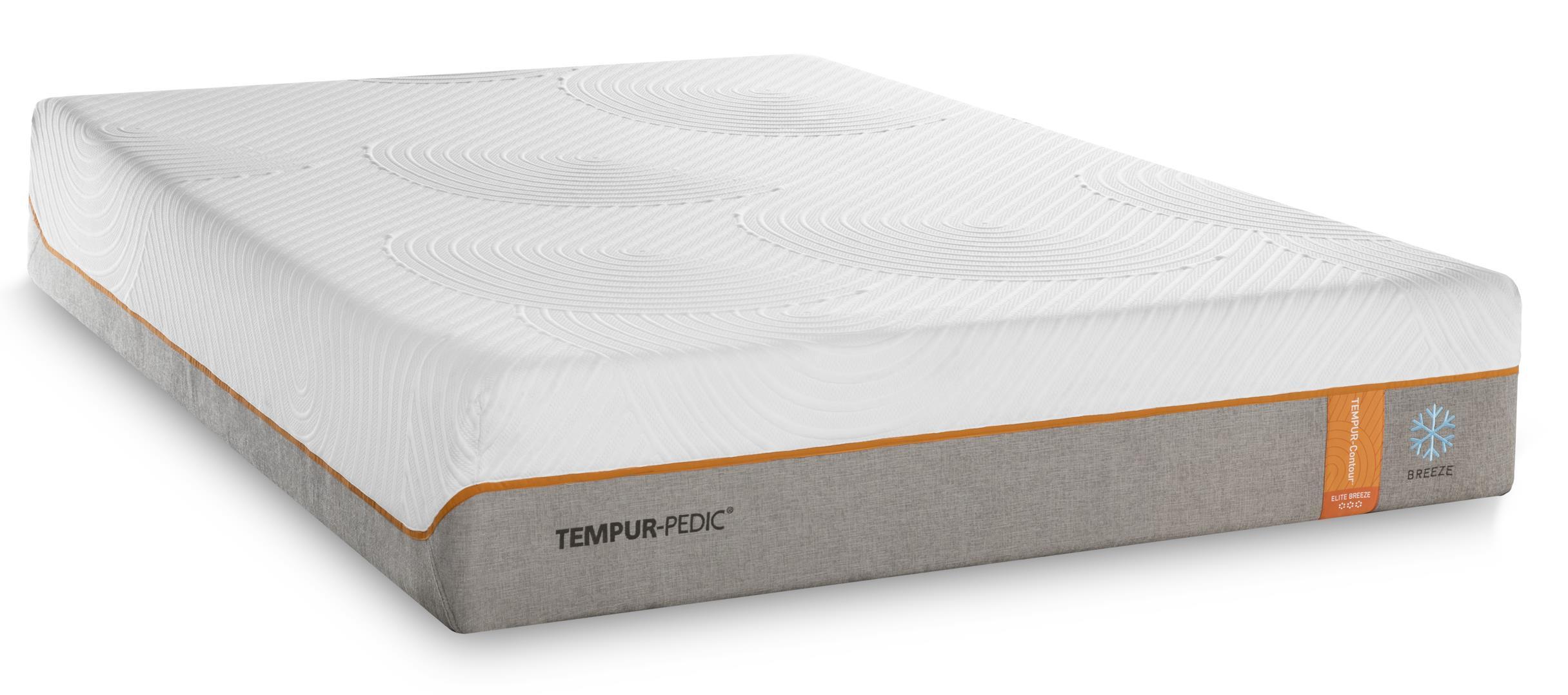 Tempur-Pedic® TEMPUR-Contour Elite Breeze King Medium-Firm Mattress Set - Item Number: 10290270+2x25287120