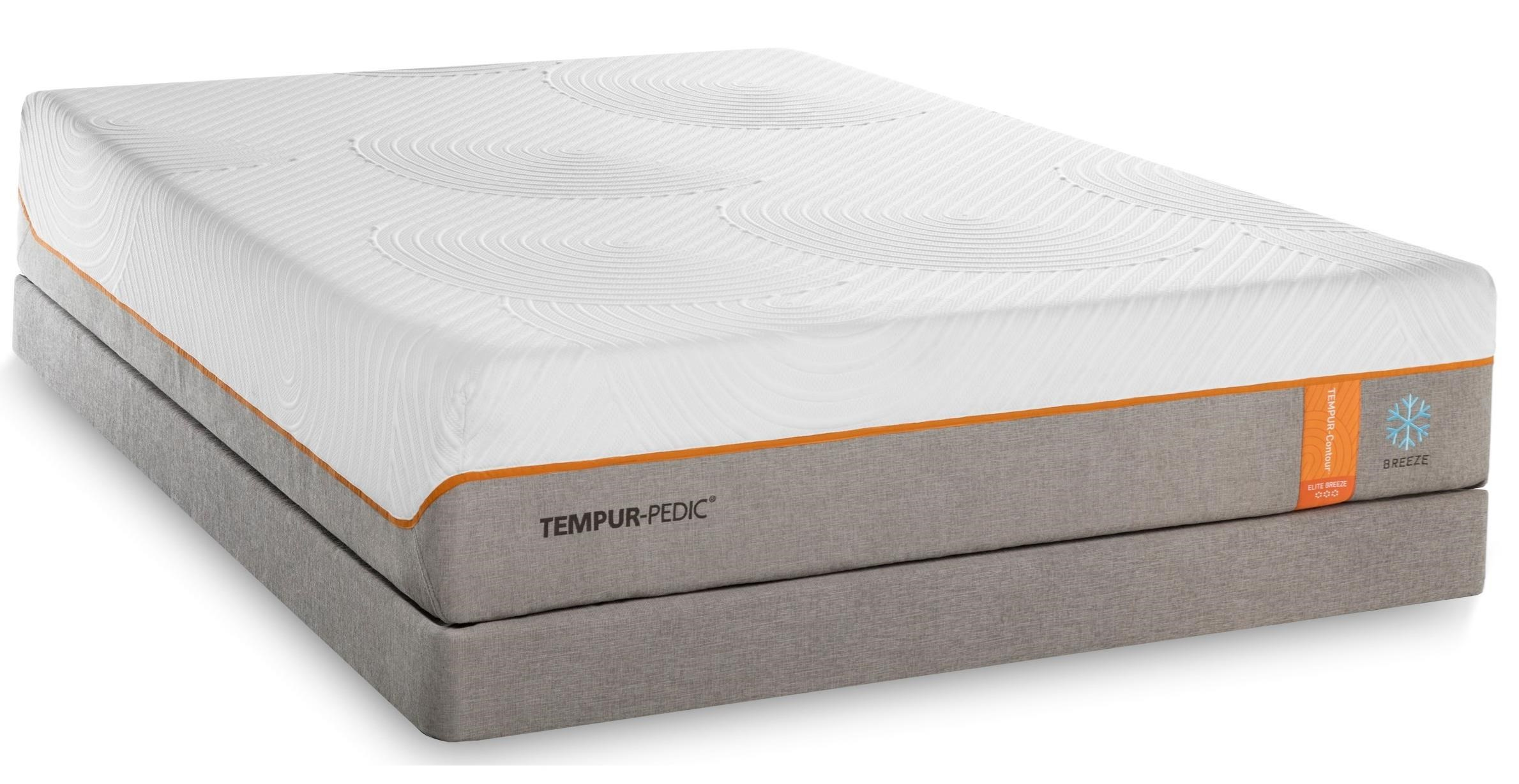 Tempur-Pedic® TEMPUR-Contour Elite Breeze Cal King Medium-Firm Mattress Set - Item Number: 10290280+2x20510190