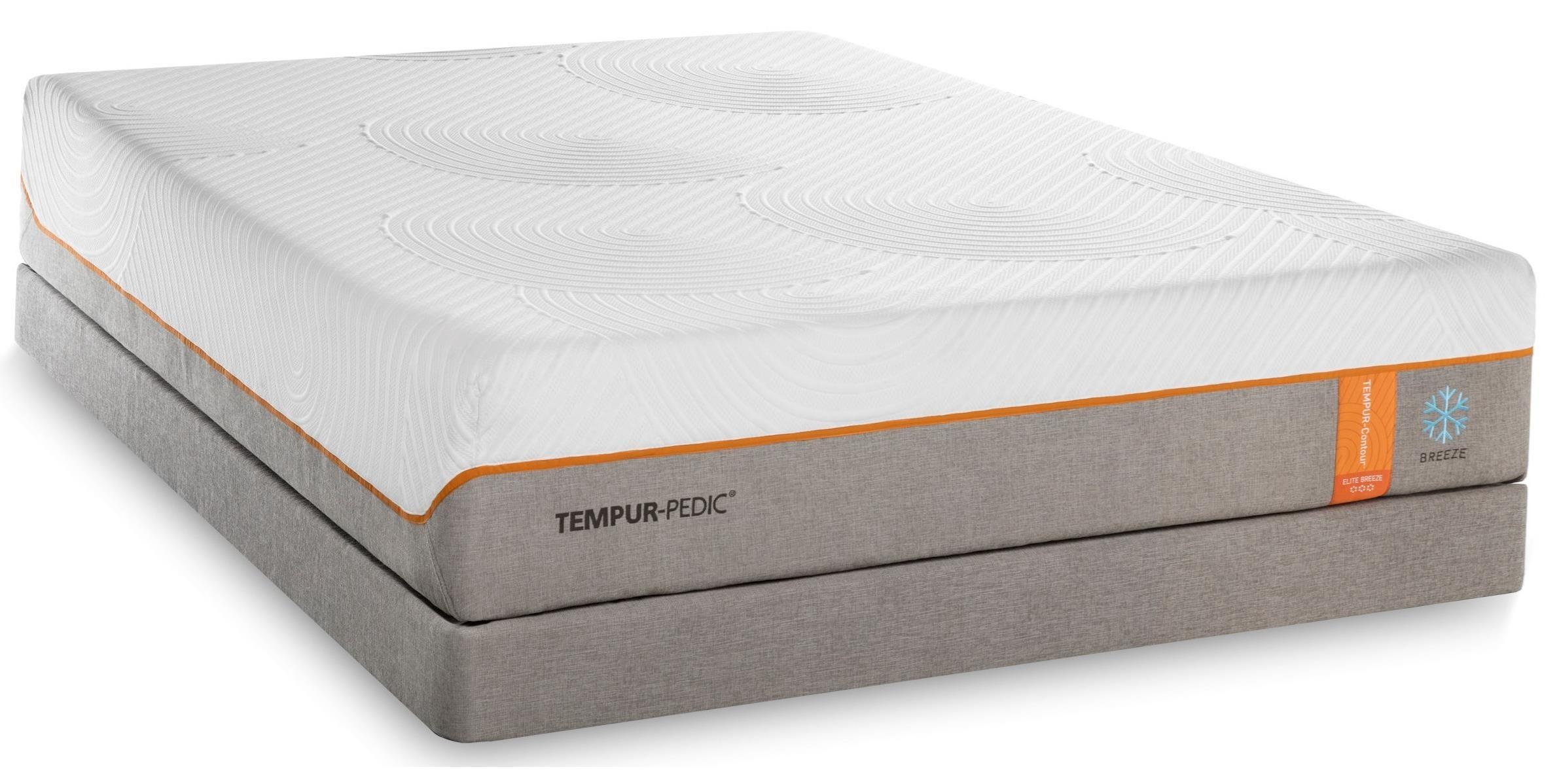 Tempur-Pedic® TEMPUR-Contour Elite Breeze Cal King Medium-Firm Mattress Set - Item Number: 10290280+2x21510190
