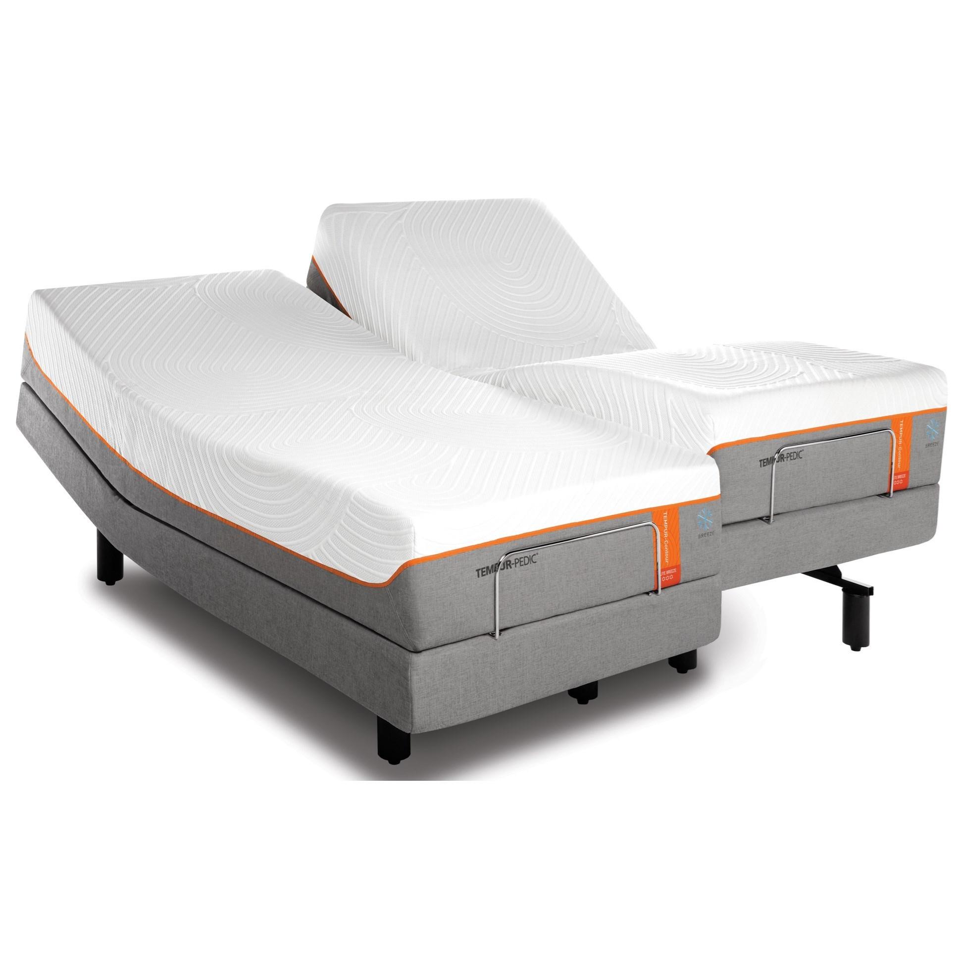 Tempur-Pedic® TEMPUR-Contour Elite Breeze California King Medium-Firm Mattress Set - Item Number: 10290280+2x25565290