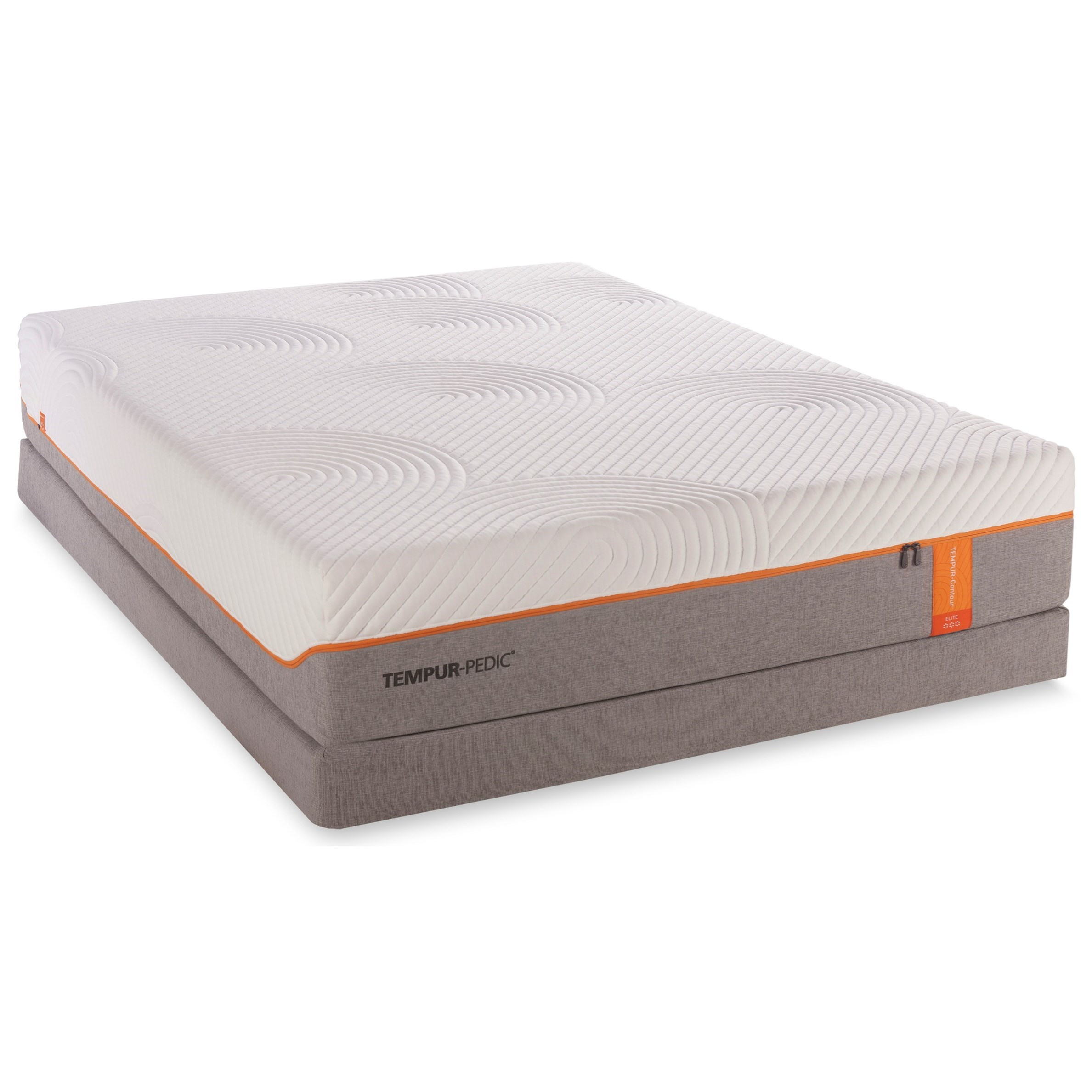 Tempur-Pedic® TEMPUR-Contour Elite Cal King Medium-Firm Mattress Set - Item Number: 10257180+2x20510190