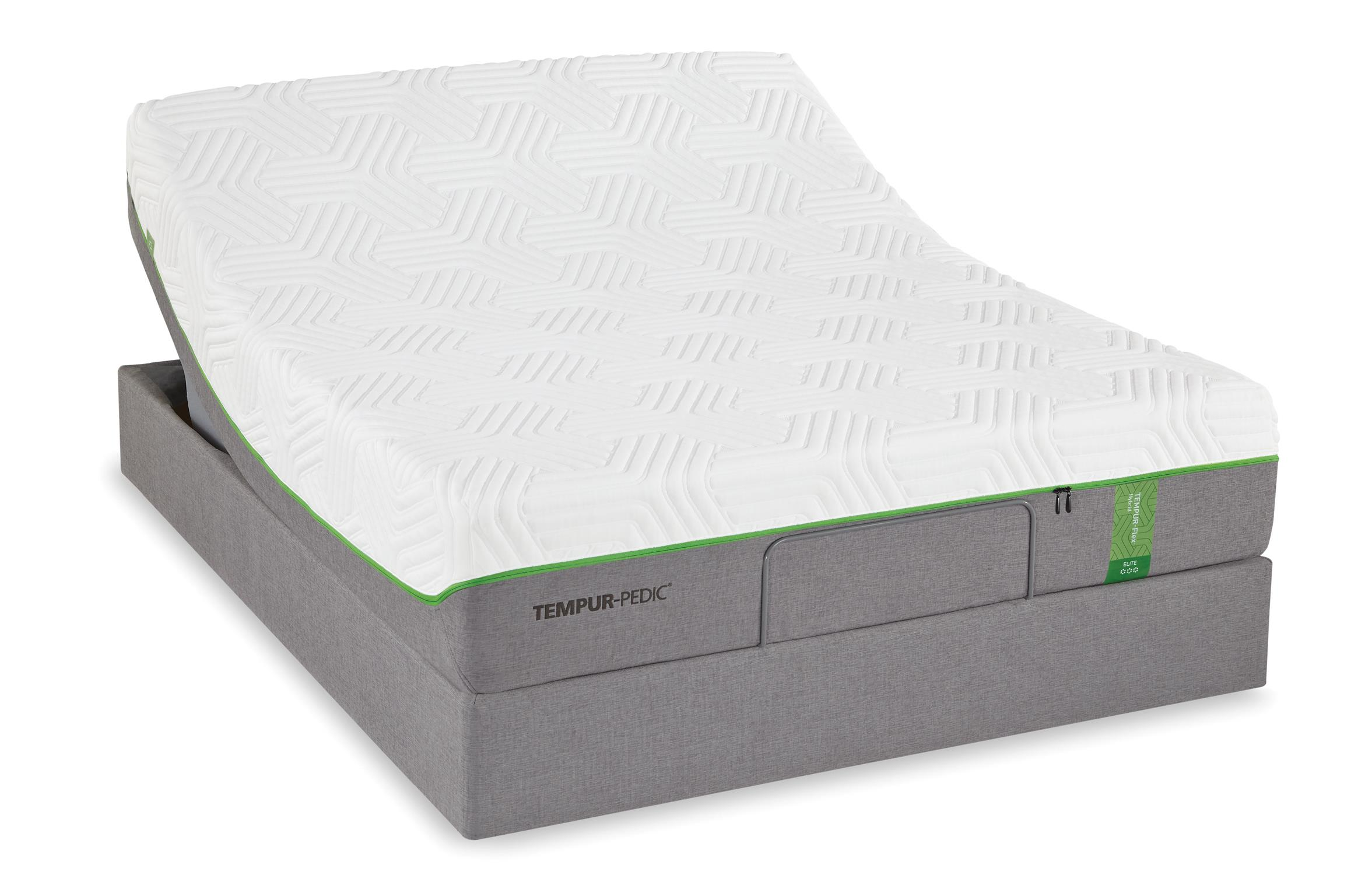 Tempur-Pedic® TEMPUR-Flex Elite Full Medium Soft Plush Mattress Set - Item Number: 10117130+25287130