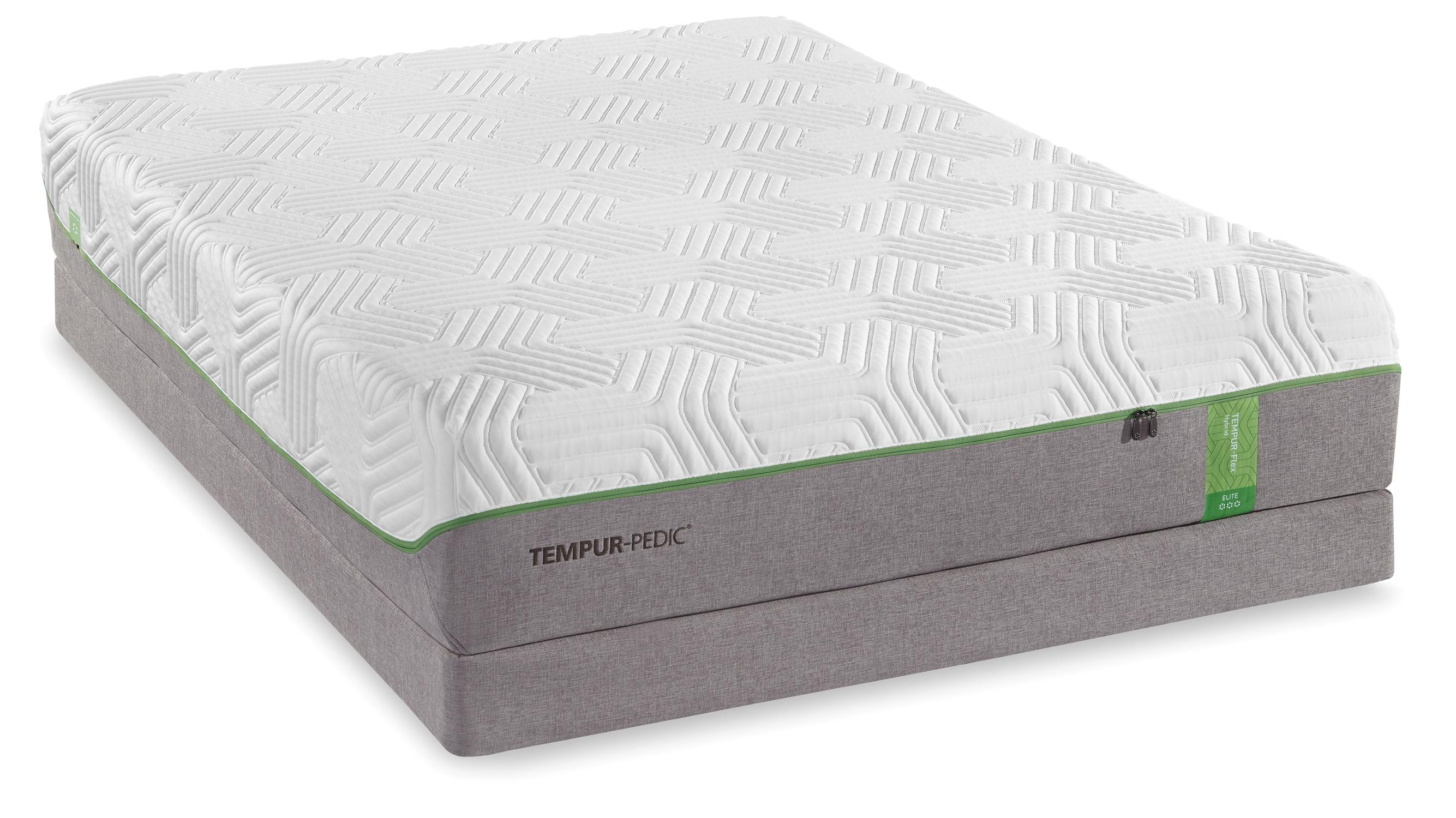 Tempur-Pedic® TEMPUR-Flex Elite Queen Medium Soft Plush Mattress Set - Item Number: 10117150+20510150