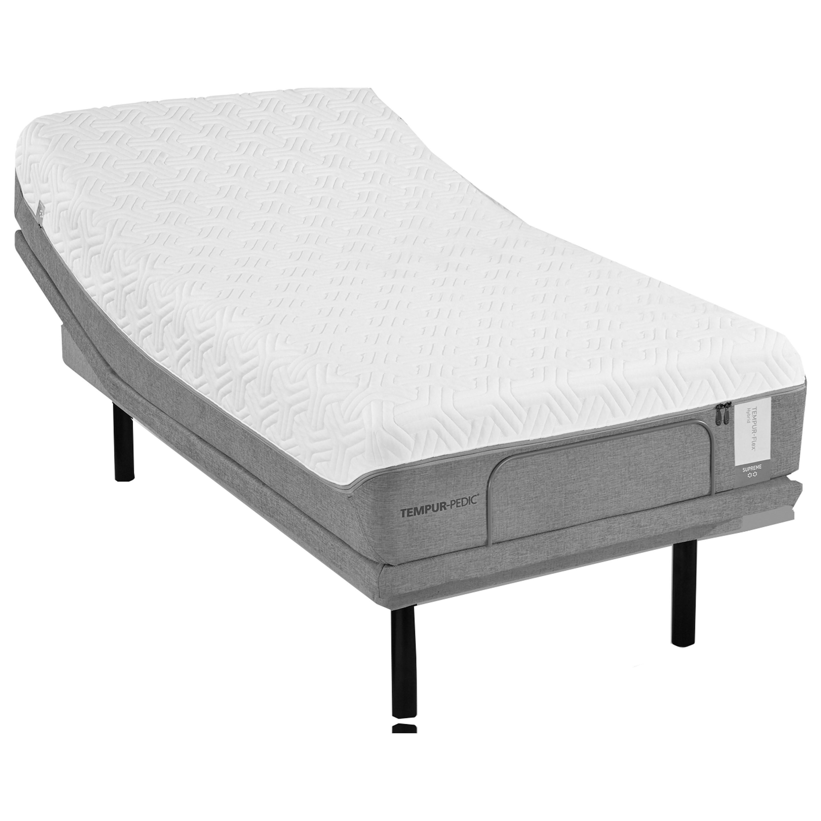 Tempur-Pedic® TEMPUR-Flex Elite King Medium Soft Plush Mattress Set - Item Number: 10117170+2x25289220