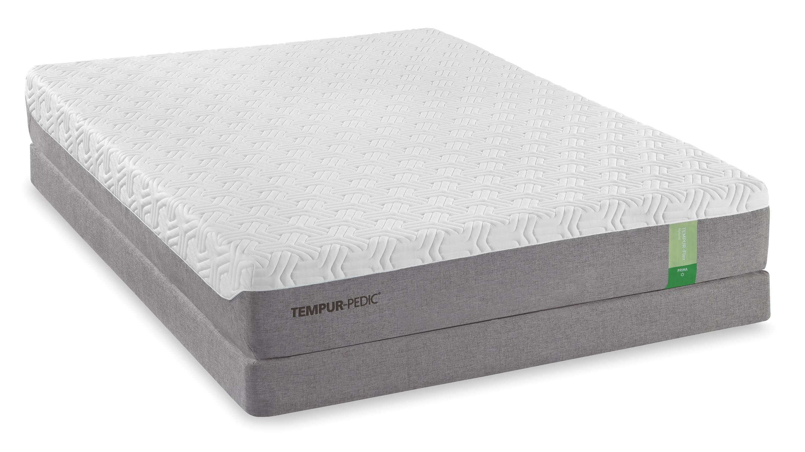 Tempur-Pedic® TEMPUR-Flex Prima Queen Medium Firm Mattress Set - Item Number: 10115250+20510150
