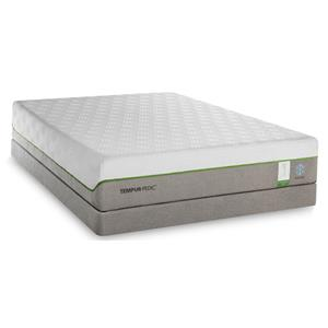 Tempur-Pedic® TEMPUR-Flex Supreme Breeze Queen Medium Plush Low Profile Set