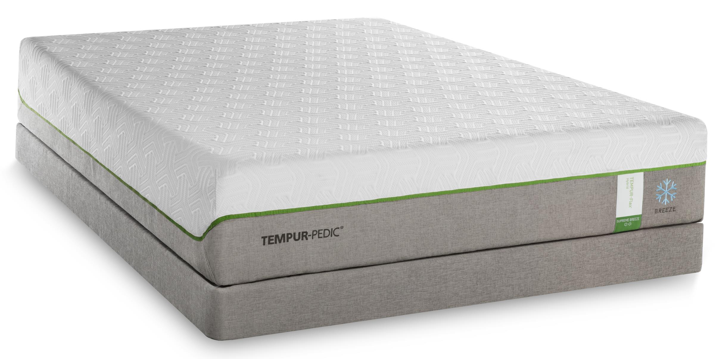Tempur-Pedic® TEMPUR-Flex Supreme Breeze Twin Extra Long Medium Plush Matt Set, Adj - Item Number: 10292220+25287120