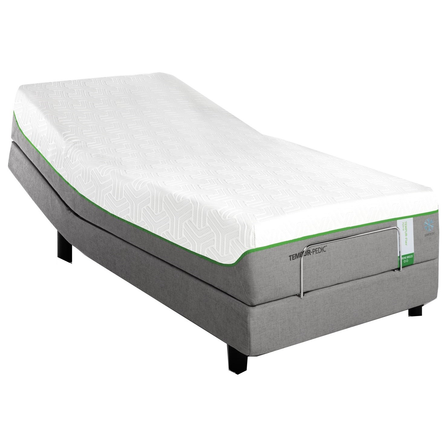 Tempur-Pedic® TEMPUR-Flex Supreme Breeze Twin Extra Long Medium Plush Adj Set - Item Number: 10292220+25558120