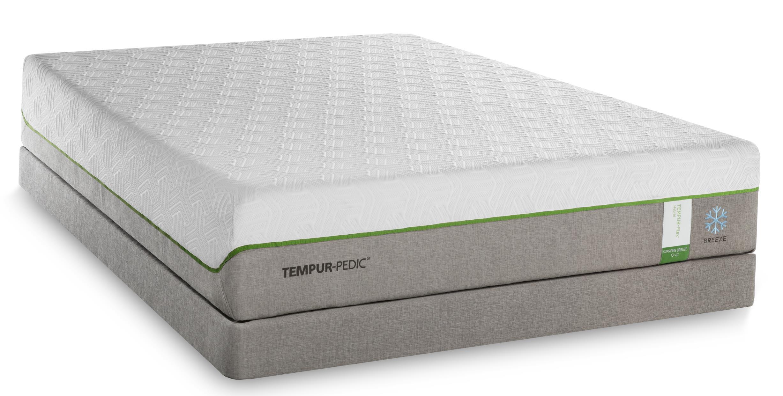 Tempur-Pedic® TEMPUR-Flex Supreme Breeze Full Medium Plush Mattress Set, Adj - Item Number: 10292230+25287130
