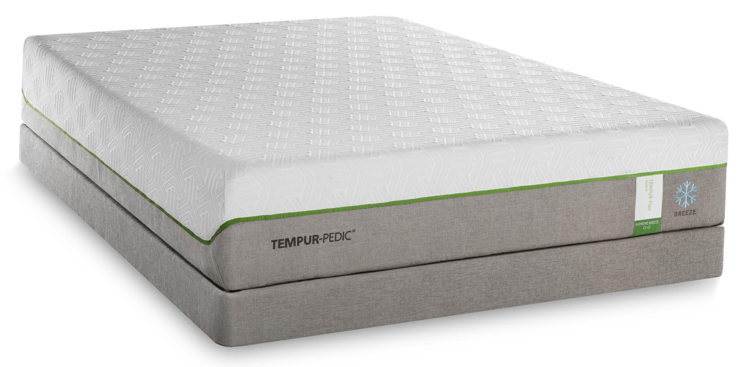 Tempur-Pedic® TEMPUR-Flex Supreme Breeze Split King Medium Plush Mattress, Adj - Item Number: 2x10292220+2x25289220