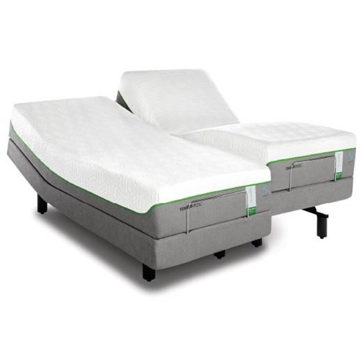 Tempur-Pedic® TEMPUR-Flex Supreme Breeze Queen Medium Plush Mattress Set, Adj - Item Number: 10292250+25565250