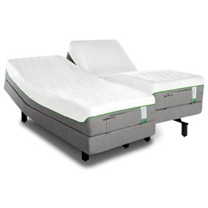 Tempur-Pedic® TEMPUR-Flex Supreme Breeze Queen Medium Plush Mattress Set, Adj