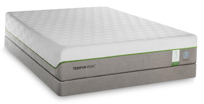 Tempur-Pedic® TEMPUR-Flex Supreme Breeze King Medium Plush Mattress Set - Item Number: 10292270+2x20510120