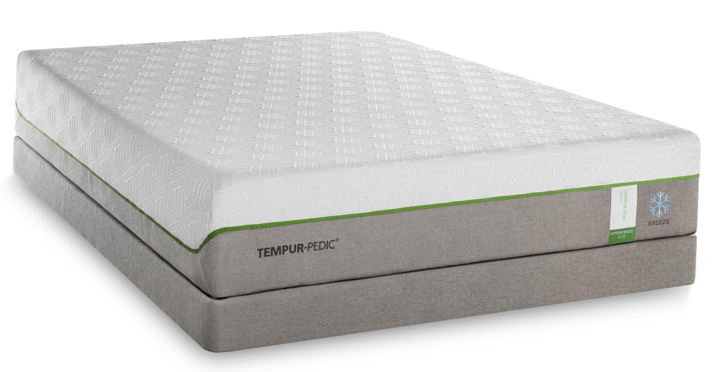 Tempur-Pedic® TEMPUR-Flex Supreme Breeze King Medium Plush Mattress Set, Adj - Item Number: 10292270+2x25287120