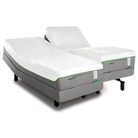 Tempur-Pedic® TEMPUR-Flex Supreme Breeze King Medium Plush Mattress Set, Adj - Item Number: 10292270+2x25565220
