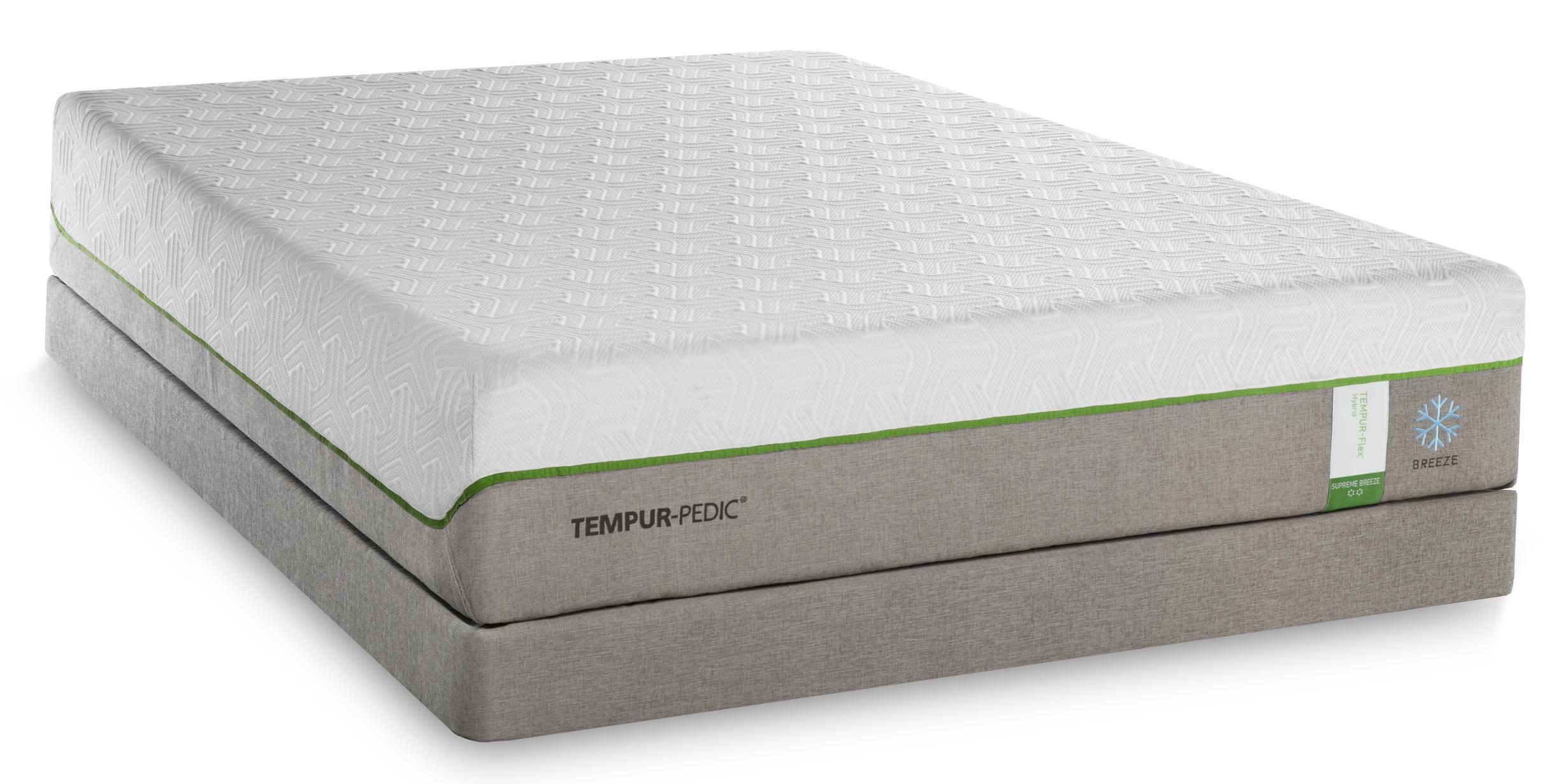 Tempur-Pedic® TEMPUR-Flex Supreme Breeze California King Medium Plush Matt Set, Adj - Item Number: 10292280+2x25287190