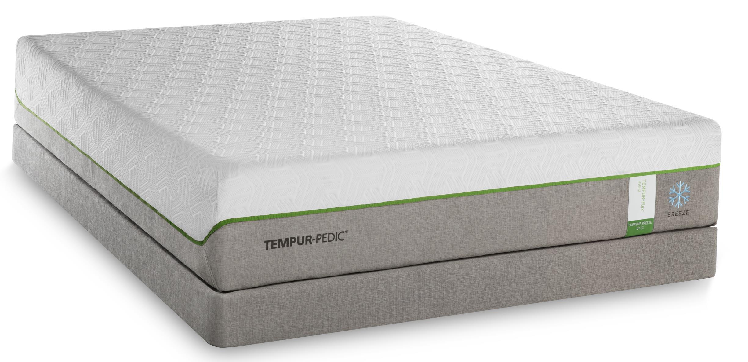 Tempur-Pedic® TEMPUR-Flex Supreme Breeze California King Medium Plush Matt Set, Adj - Item Number: 10292280+2x25289290