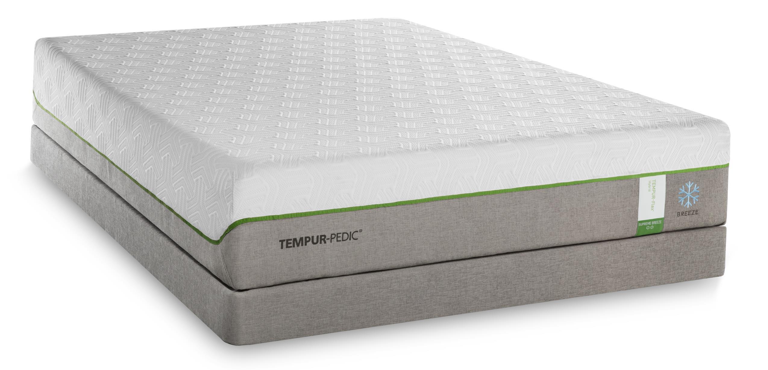 Tempur-Pedic® TEMPUR-Flex Supreme Breeze California King Medium Plush Mattress Set - Item Number: 10292290+2x20510190