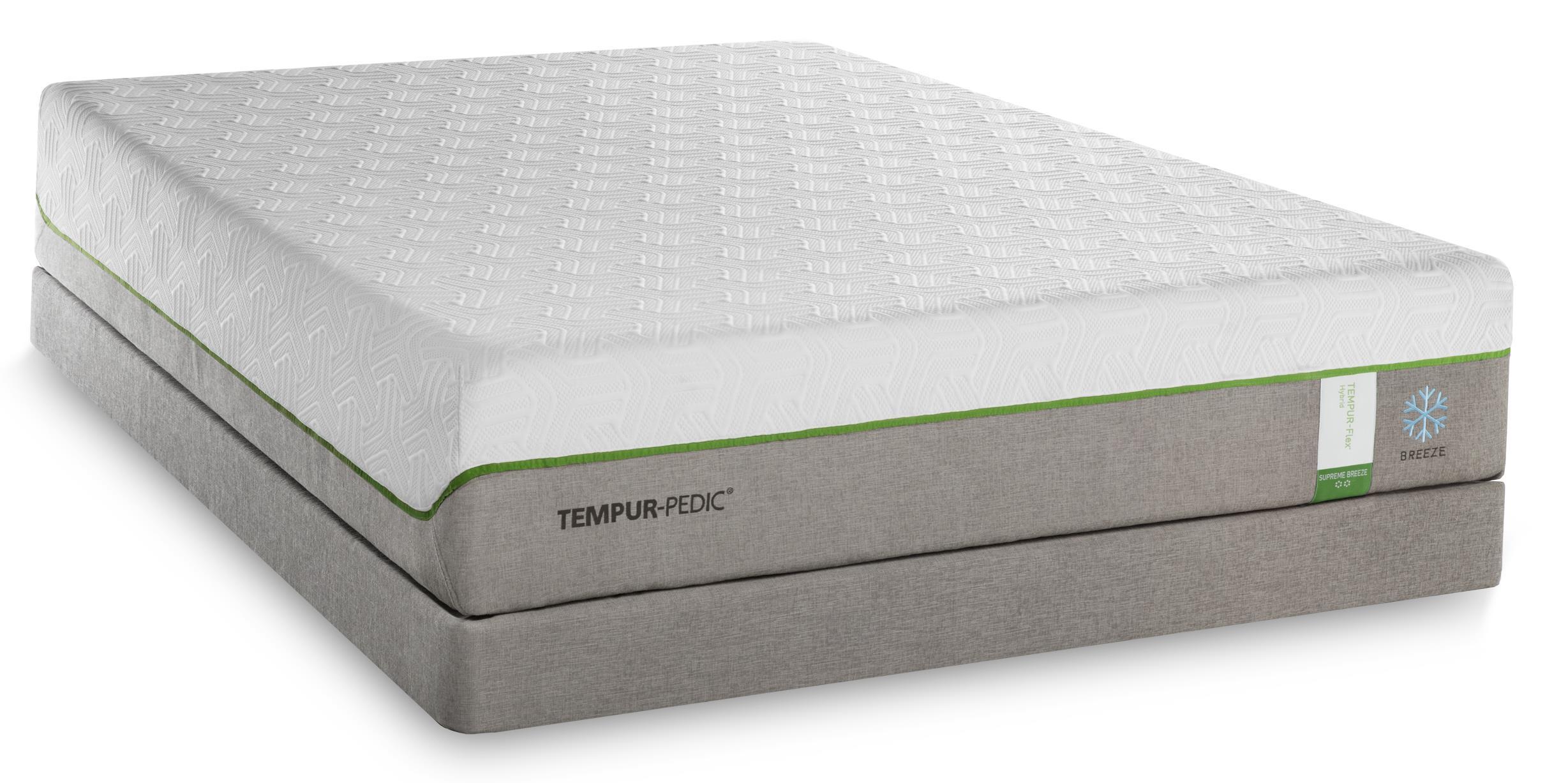 Tempur-Pedic® TEMPUR-Flex Supreme Breeze Split King Medium Plush Mattress, LP - Item Number: 2x10292220+2x21510120
