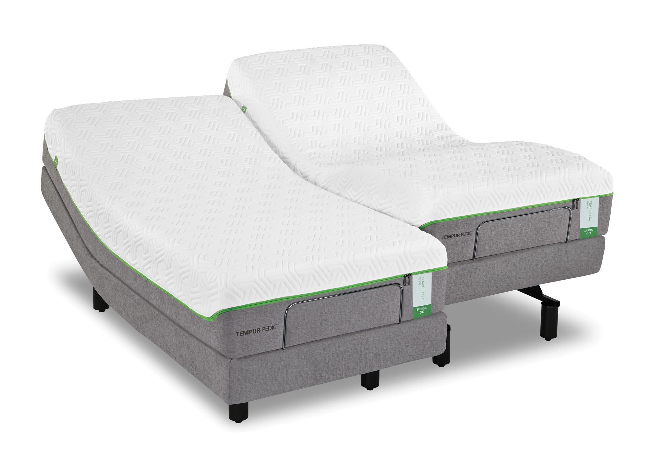 Tempur-Pedic® TEMPUR-Flex Supreme King Medium Plush Mattress Set - Item Number: 10116170+2x25289220