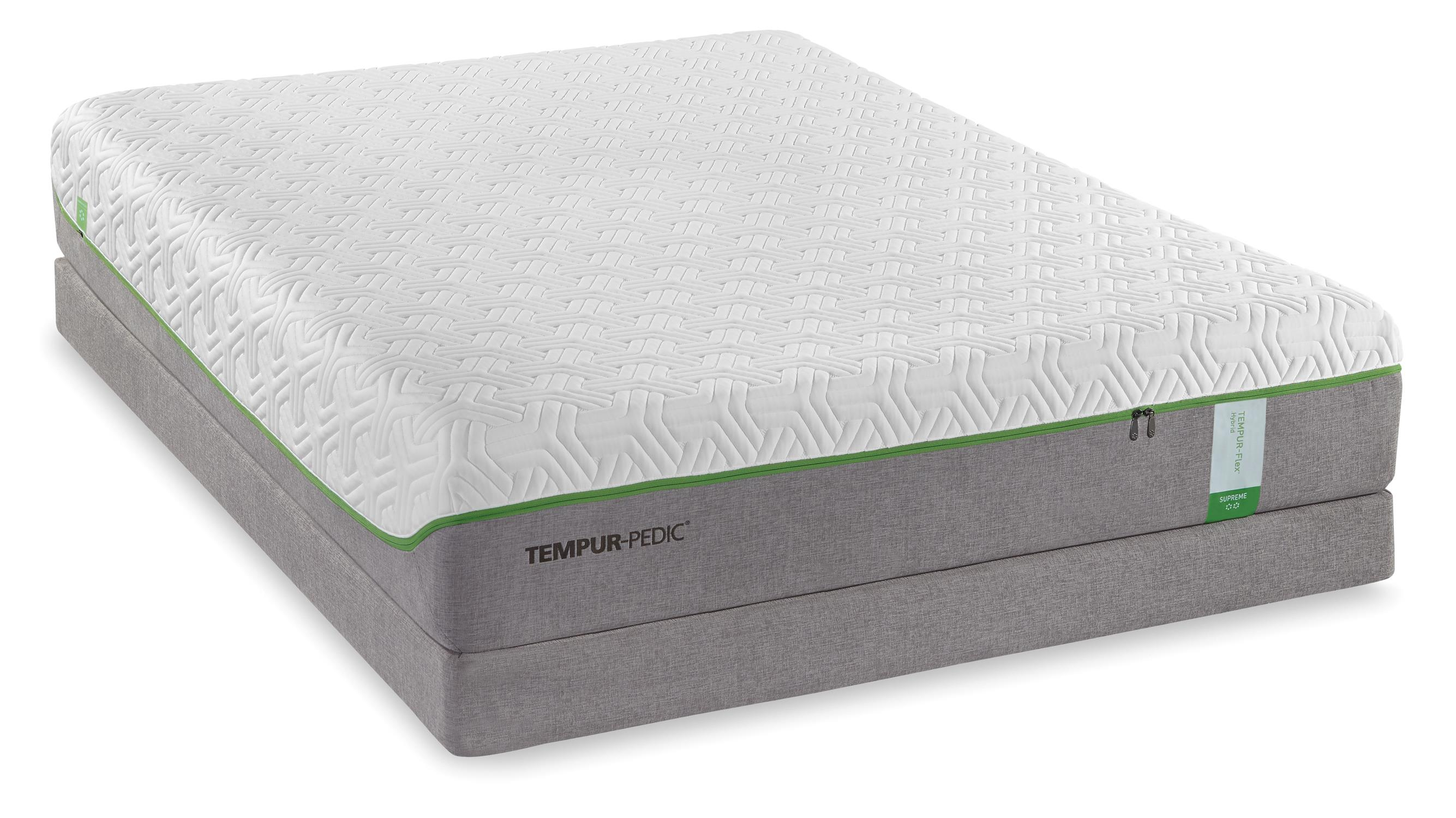 Tempur-Pedic® TEMPUR-Flex Supreme Twin Extra Long Medium Plush Mattress Set - Item Number: 10116120+21510120