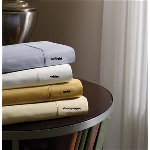 White Split Cal King Sheet Set