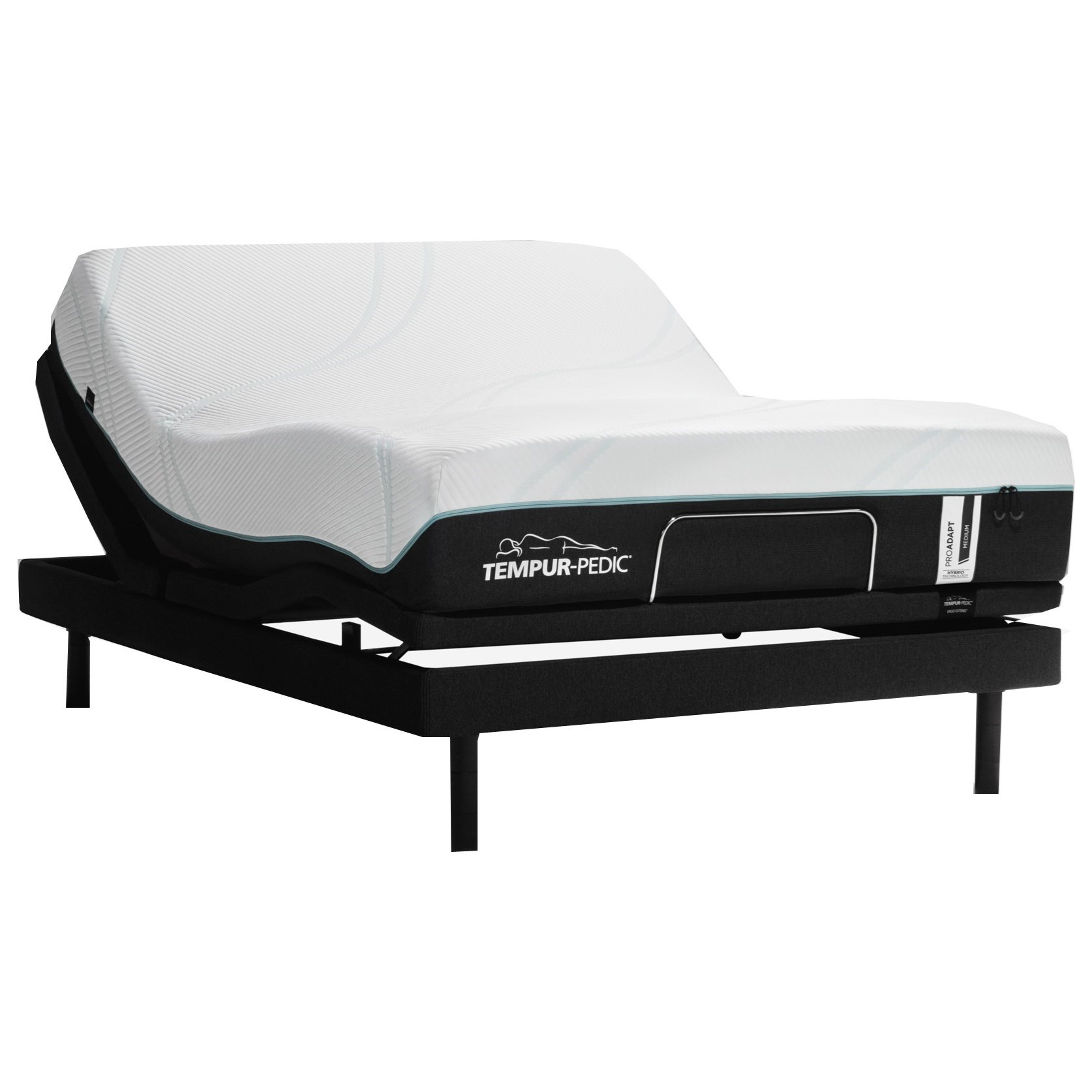 TEMPUR-PROADAPT™ Medium Hybrid Queen TEMPUR-PROADAPT™ Medium Hybrid Adj Set by Tempur-Pedic® at SlumberWorld