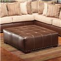 The Rose Hill Company 1973 Tufted Ottoman with Nailhead Trim