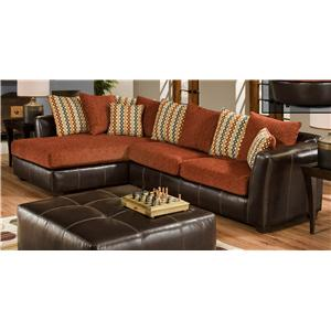 The Rose Hill Company 3880 Contemporary Two-Tone Sectional Sofa