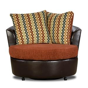 The Rose Hill Company 3880 Contemporary Two-Tone Club Chair