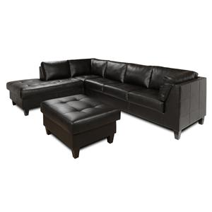 The Rose Hill Company 3990 Contemporary Tufted Seat Sectional Sofa