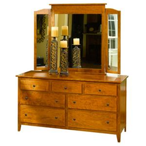 The Urban Collection Jamestown Square Large Dresser and Tri-Fold Mirror
