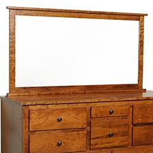 The Urban Collection Jamestown Square Mirror for High Dresser