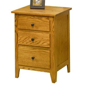 The Urban Collection Jamestown Square 3 Drawer Nightstand