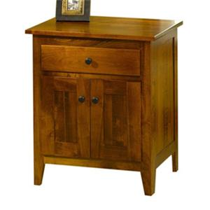 The Urban Collection Jamestown Square Nightstand with Doors