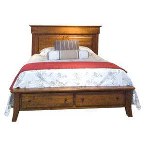 The Urban Collection Jamestown Square Queen Panel Bed with Storage Footboard