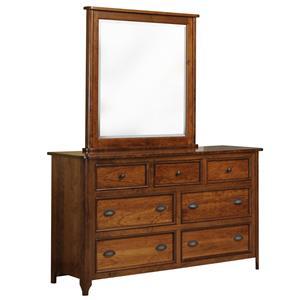 Yutzy - Urban Collection Hudson  Seven Drawer Dresser and Mirror