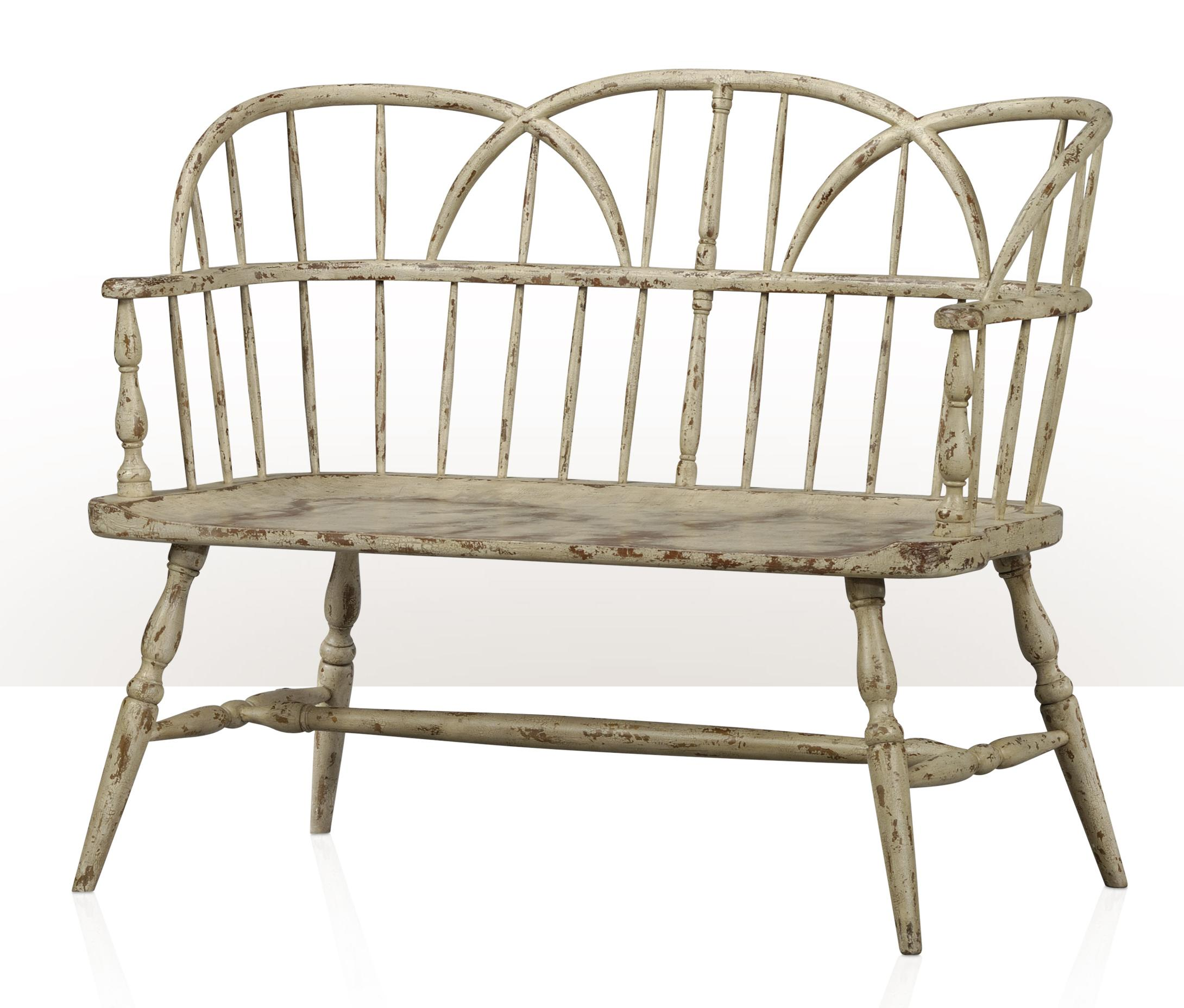 1783 Back Bench by Theodore Alexander at Stuckey Furniture