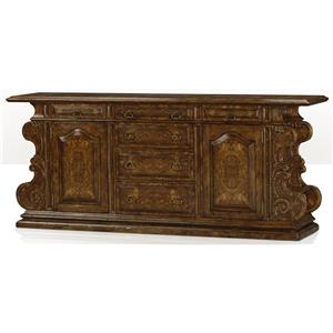 Theodore Alexander Cabinets and Sideboards Oak and Burl Buffet