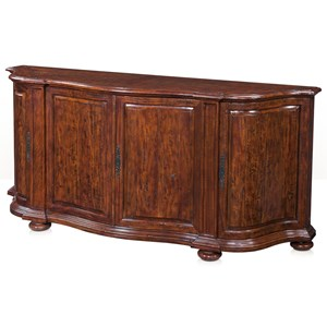 Theodore Alexander Cabinets and Sideboards Double Serpentine Sideboard