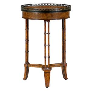 Theodore Alexander Classic yet Casual Round Lamp Table