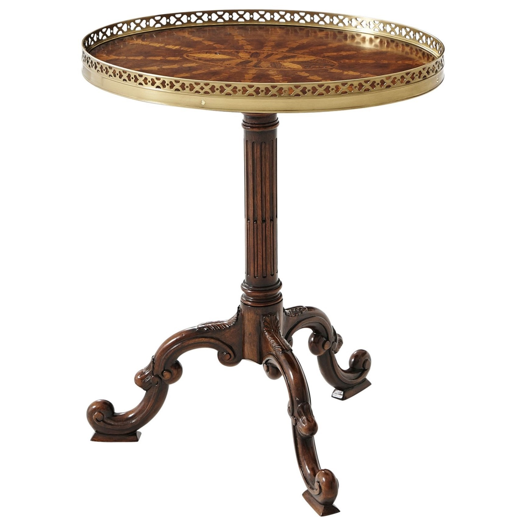 Theodore Alexander Essential TA Radiating Parquetry Lamp Table - Item Number: 5005-022