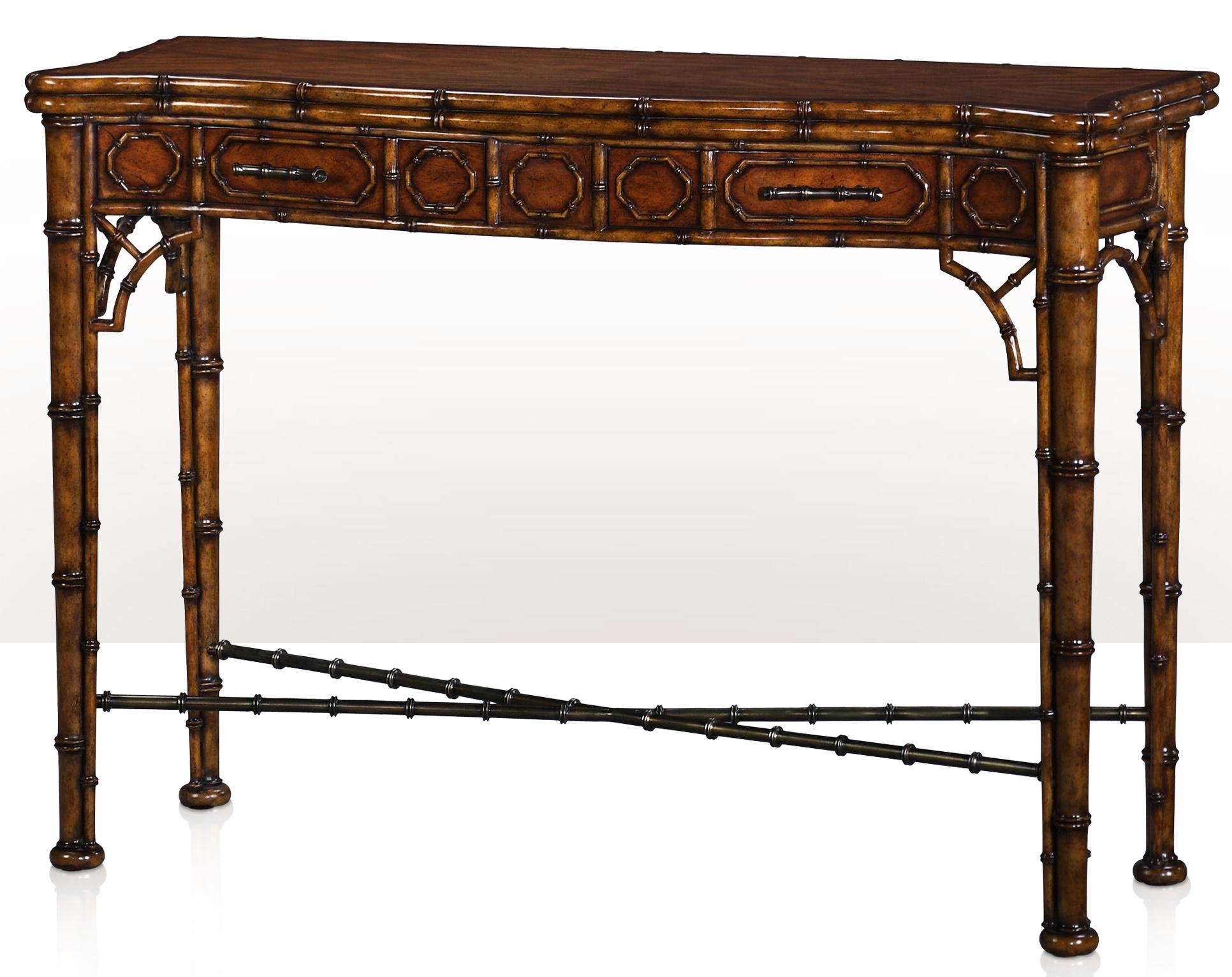 Theodore Alexander Indochine The Edwardian Bamboo Console - Item Number: 5300-138