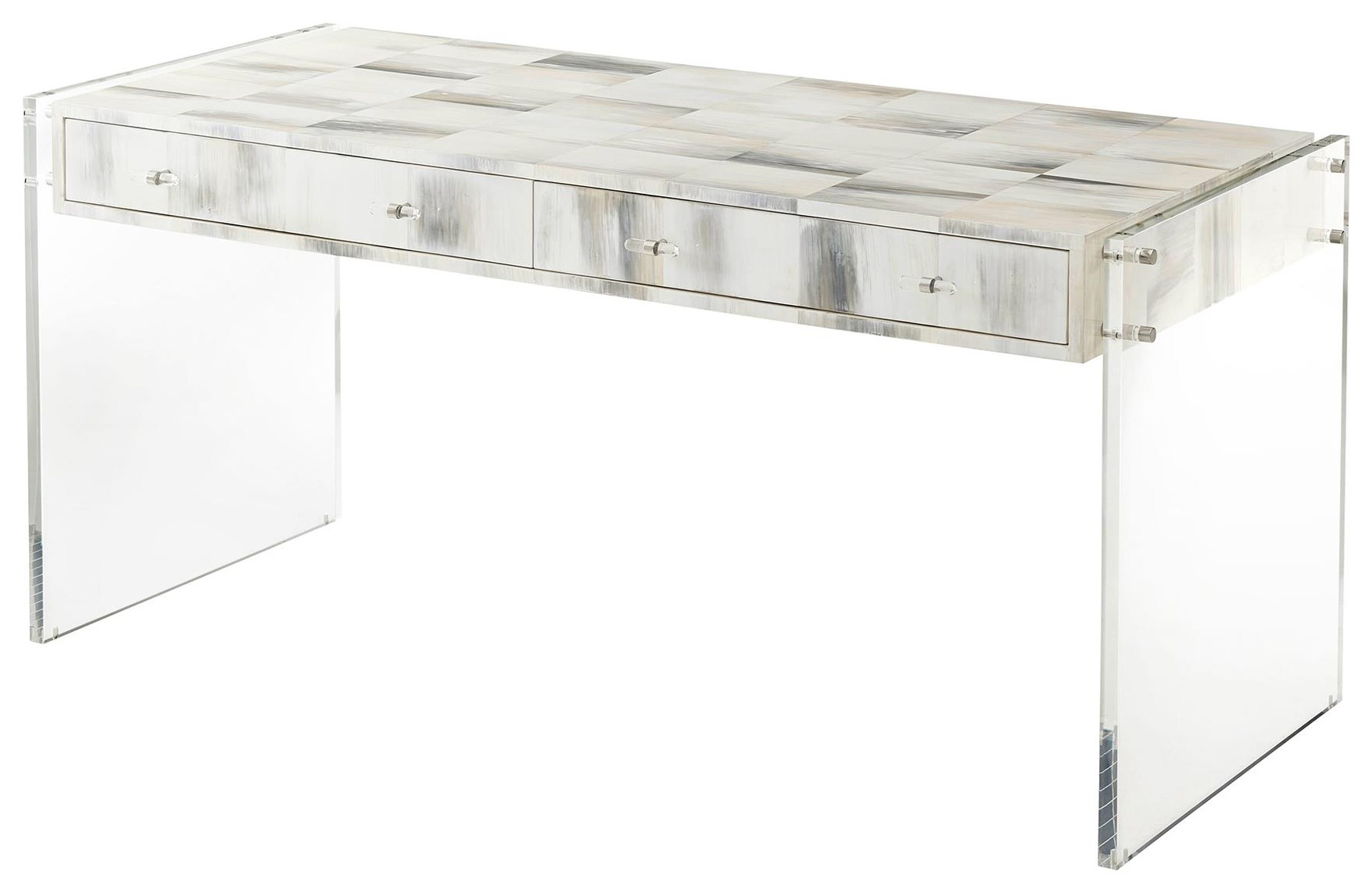 Quadrilateral Tiled Desk by Theodore Alexander at Baer's Furniture