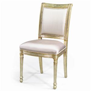 Theodore Alexander Seating Silvered and Gilt Eglomise Side Chair