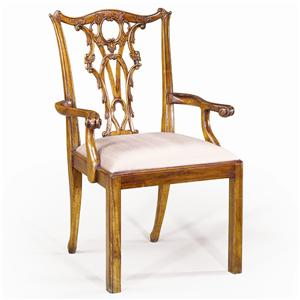 Theodore Alexander Seating Hand Carved Arm Chair